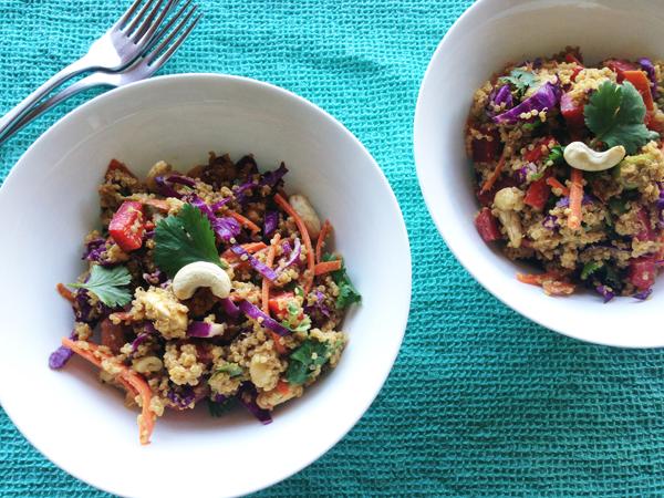 Asian cashew and quinoa salad - Image courtesy of Vegangela