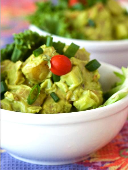 Creamy avocado potato salad - Image from the post punk kitchen